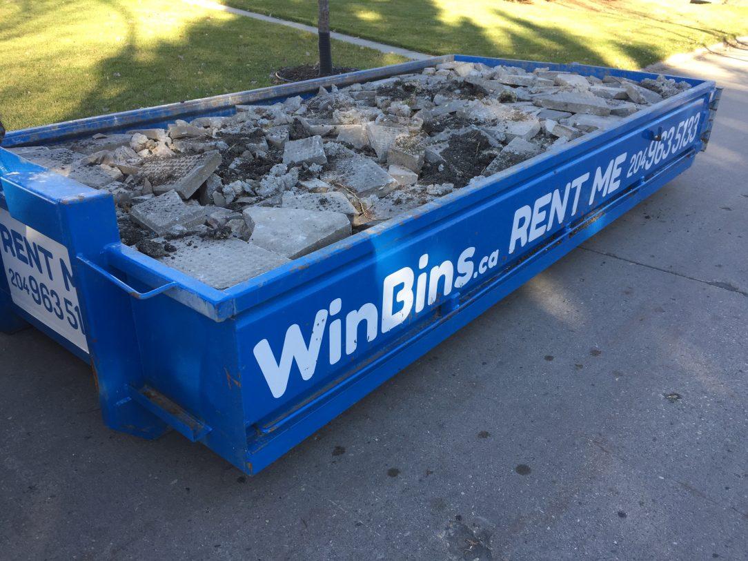 Winnipeg Bin & Dumpster Rentals by WinBins - 4 yard concrete