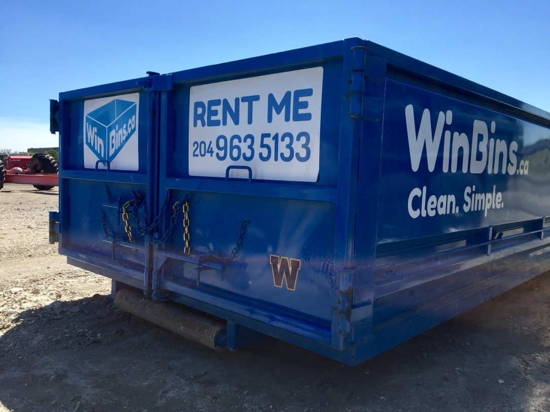Winnipeg Bin & Dumpster Rentals by WinBins - bombers bin
