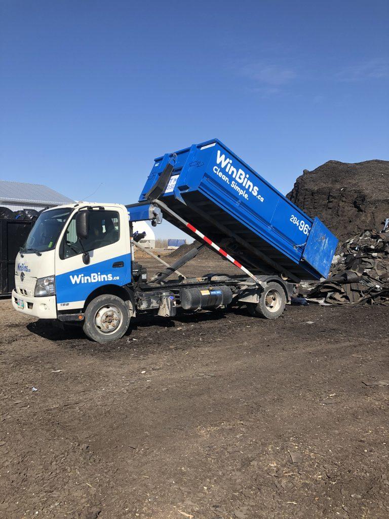 WinBin shingle load being recycled.