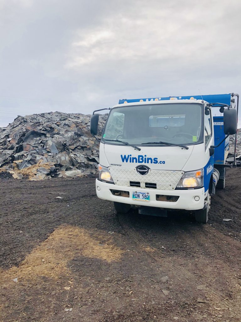 WinBins recycling shingles at Green Opportunities.